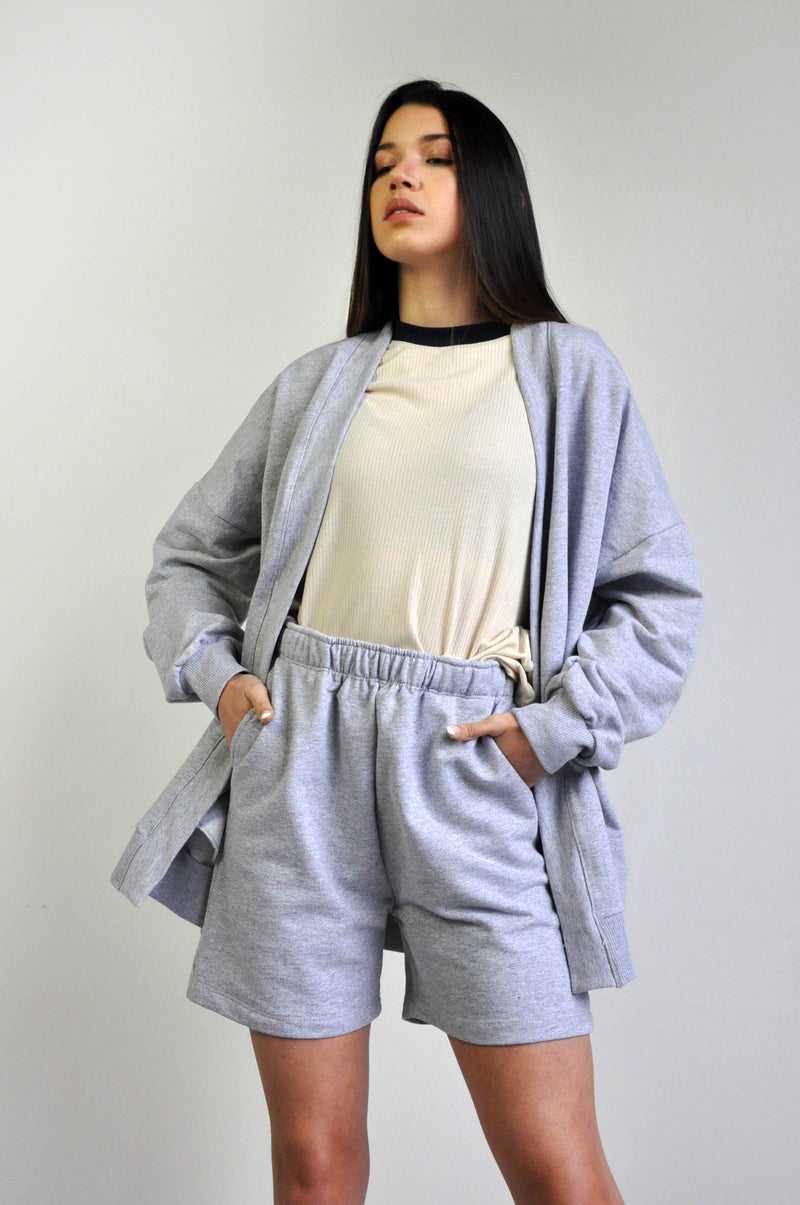 EASY OVERSIZE FRENCH TERRY CARDIGAN - Shop Noctex