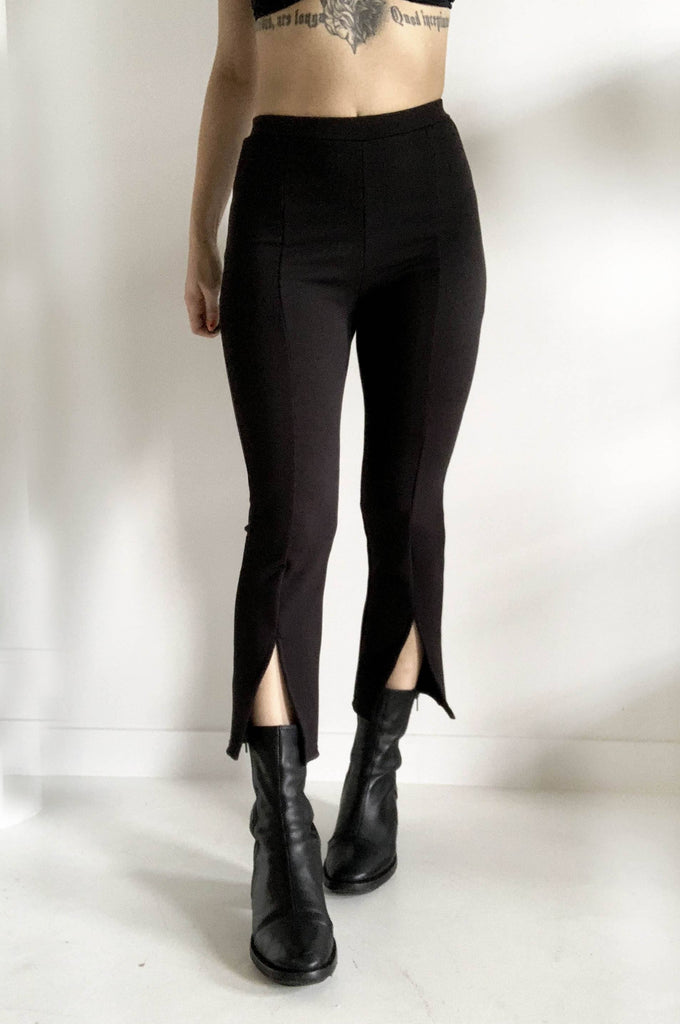SPLIT FLARE CROP PANTS - NOCTEX - BUY NOW PAY LATER