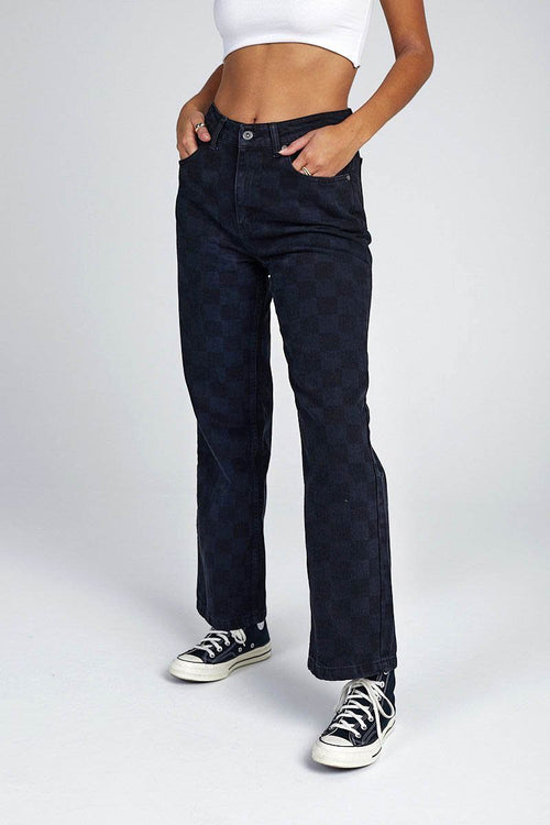 ROOK JEAN DENIM - BLACK LASER CHECK - NOCTEX - BUY NOW PAY LATER