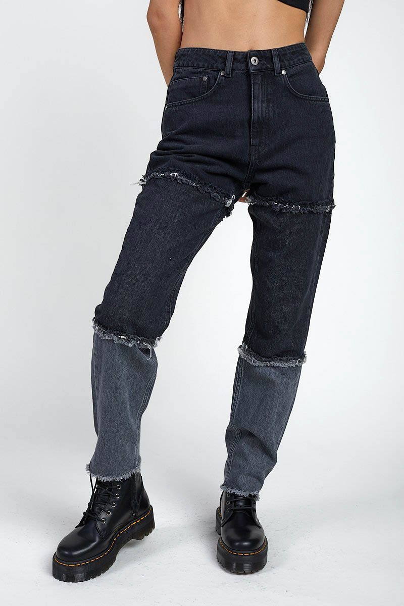 SHADE JEAN DENIM - BLACK/GREY - Shop Noctex (6055746371779)