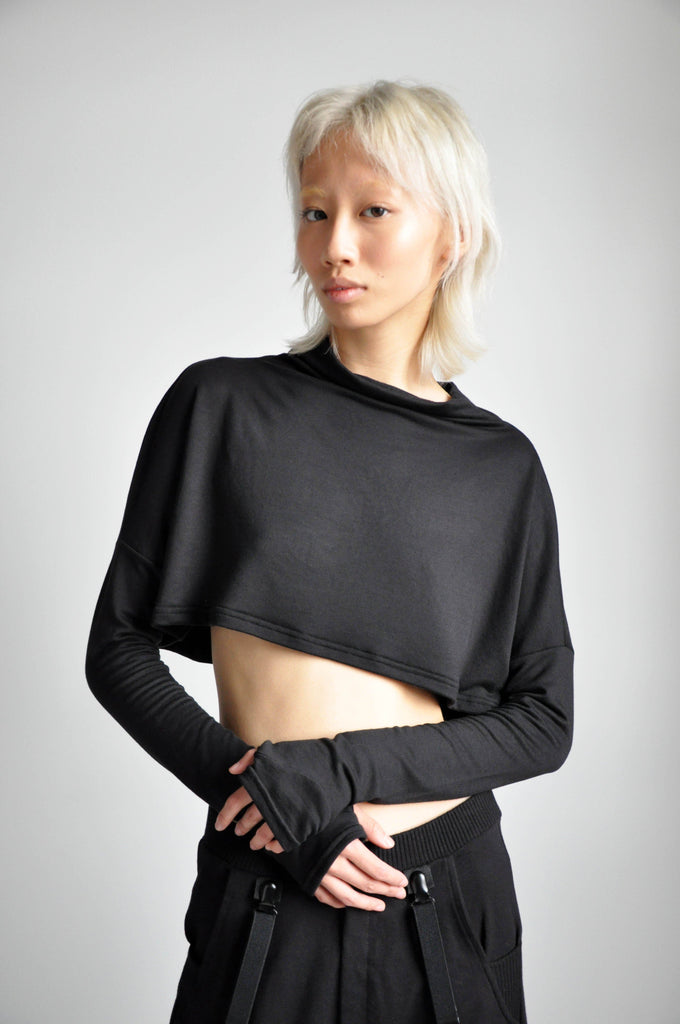 MEL CROP SWEATER - BLACK - NOCTEX - BUY NOW PAY LATER