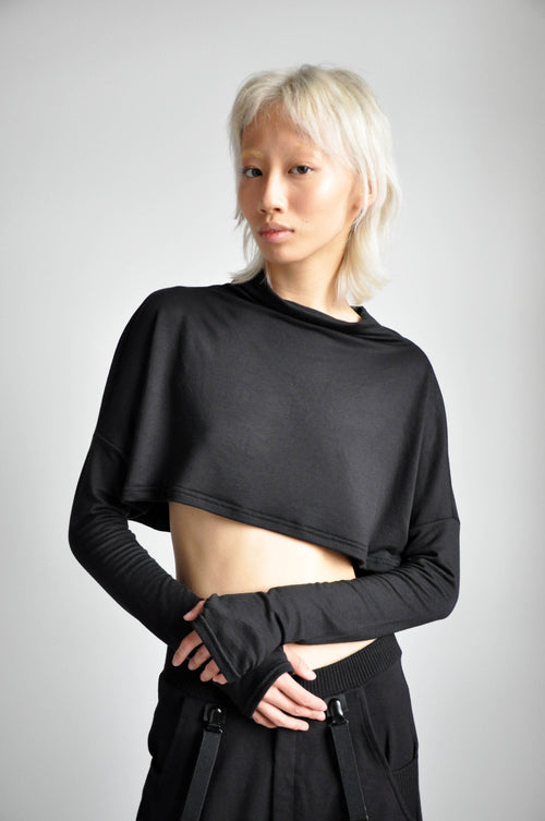 MEL CROP SWEATER - BLACK - NOCTEX - BUY NOW PAY LATER (5369322307740)