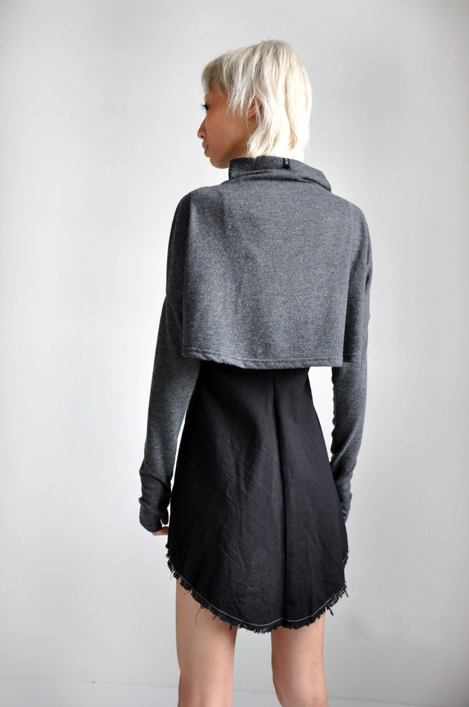 MEL CROP SWEATER - GREY - NOCTEX - BUY NOW PAY LATER