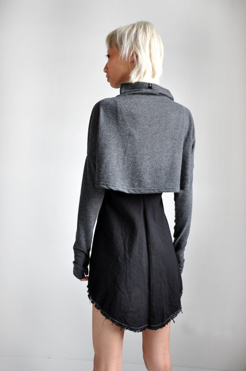 MEL CROP SWEATER - GREY - Shop Noctex