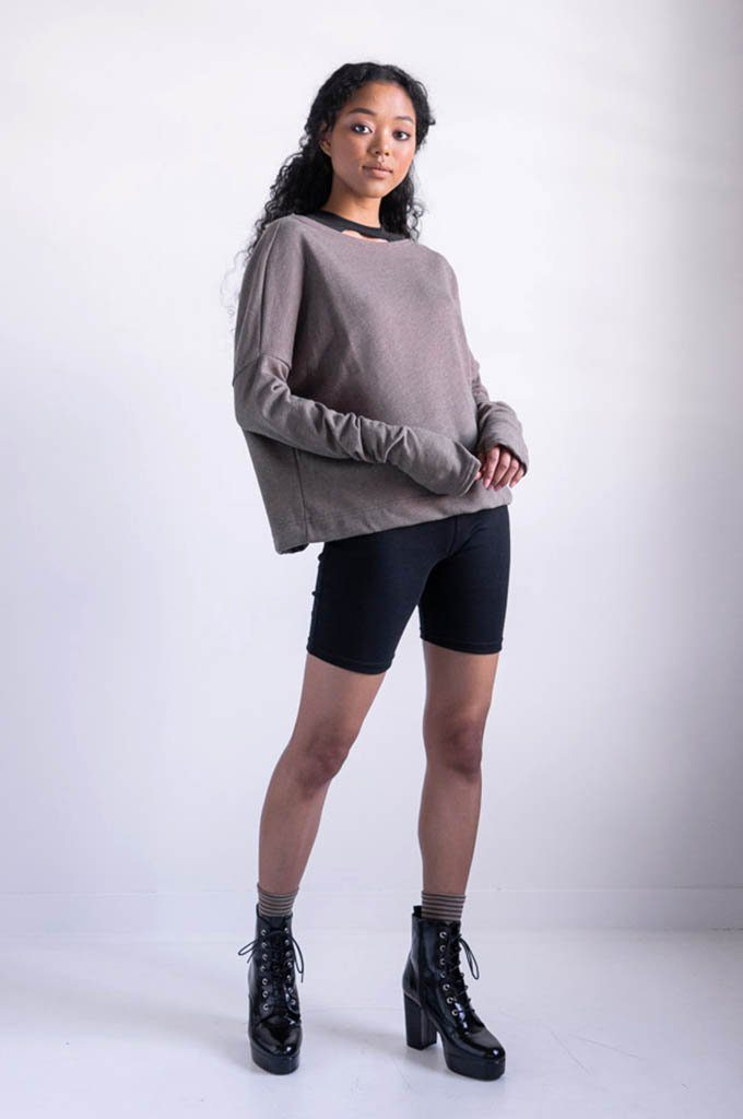 Crop Sweater - NOCTEX - BUY NOW PAY LATER (4454177472584)