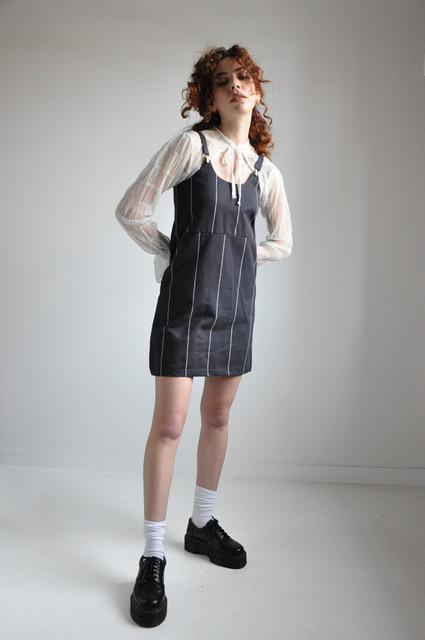 SUSPENDER DRESS - STRIPE - NOCTEX - BUY NOW PAY LATER