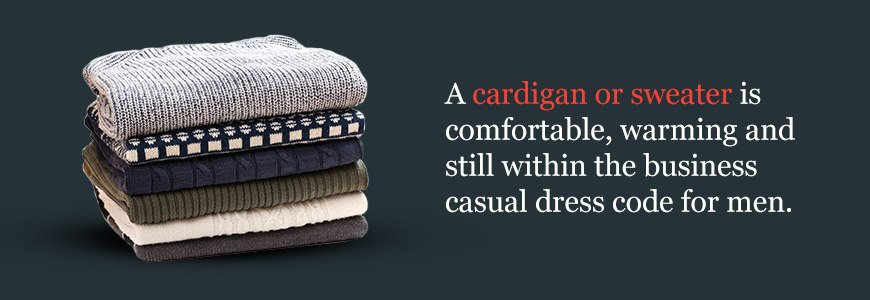 Cardigans and Sweaters are Great for Warm Business Casual Wear