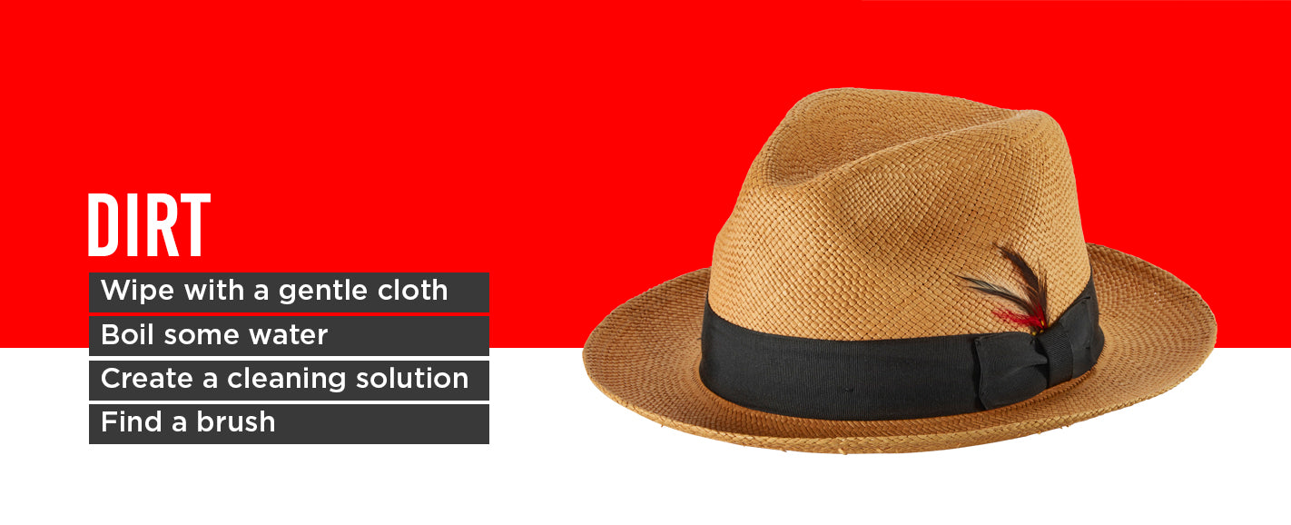 How to Remove Dirt from Panama Hat
