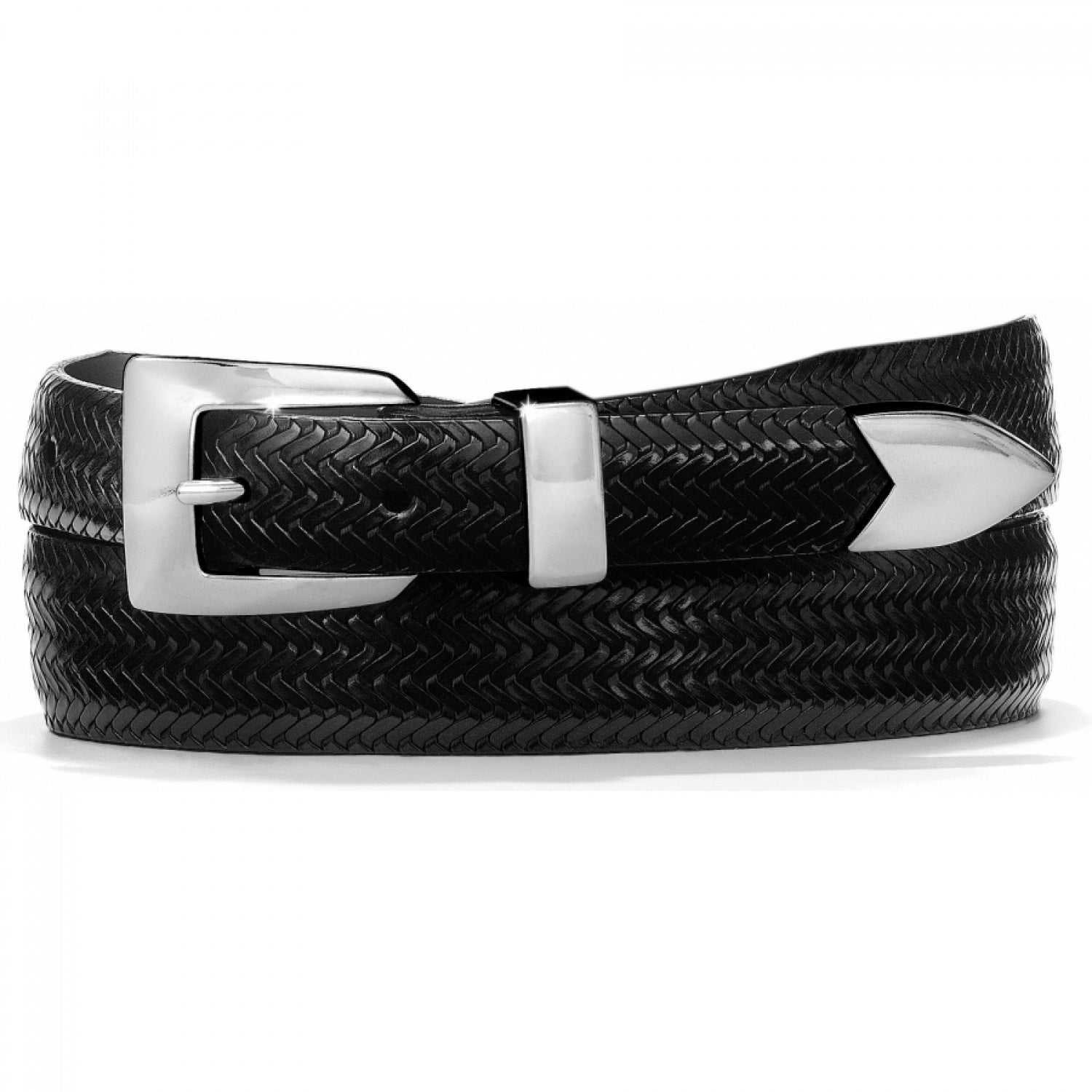 BRIGHTON - (15603) Avalon Basketweave Belt (Black)