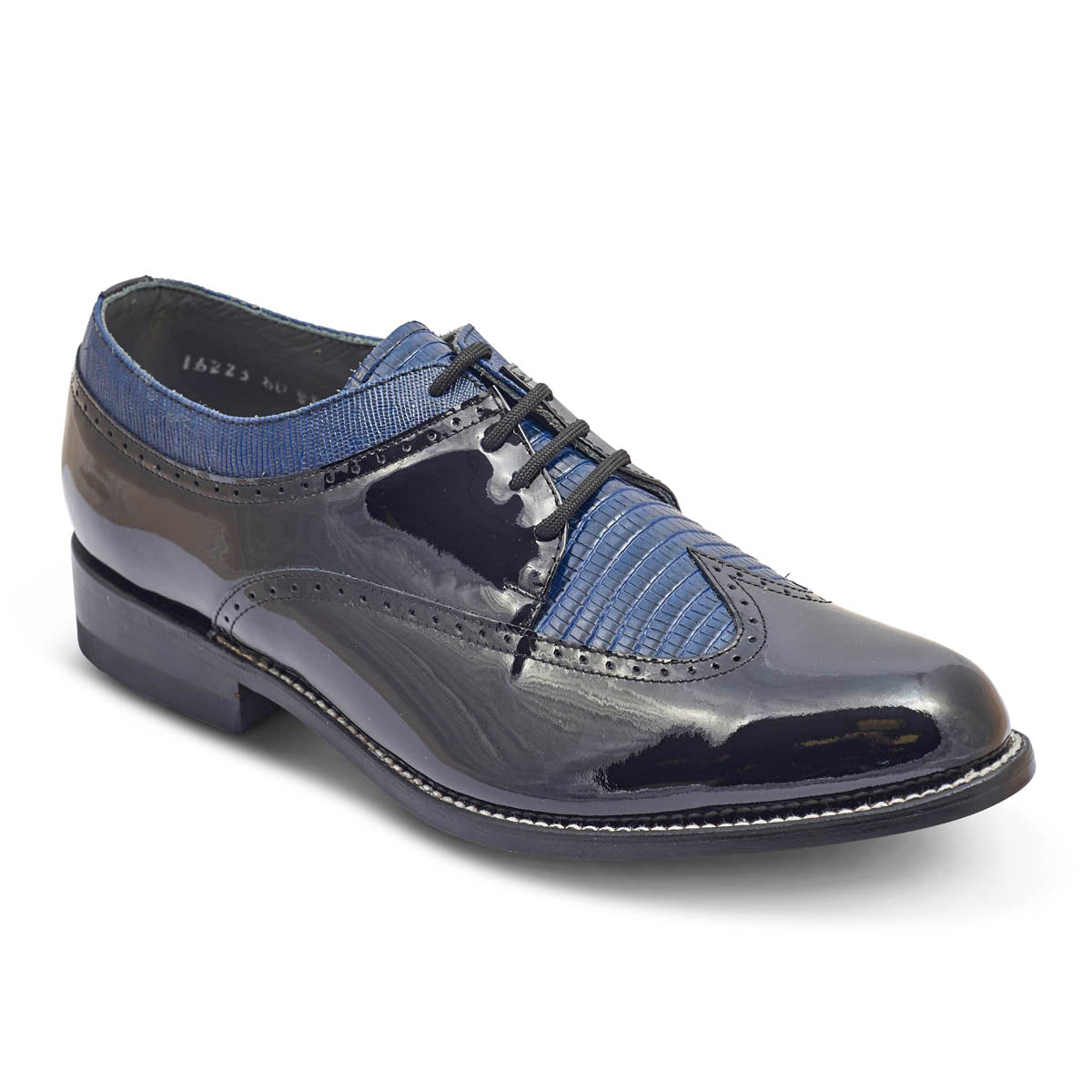 STACY PENNER - Black/Blue Wing Tip (C1608)