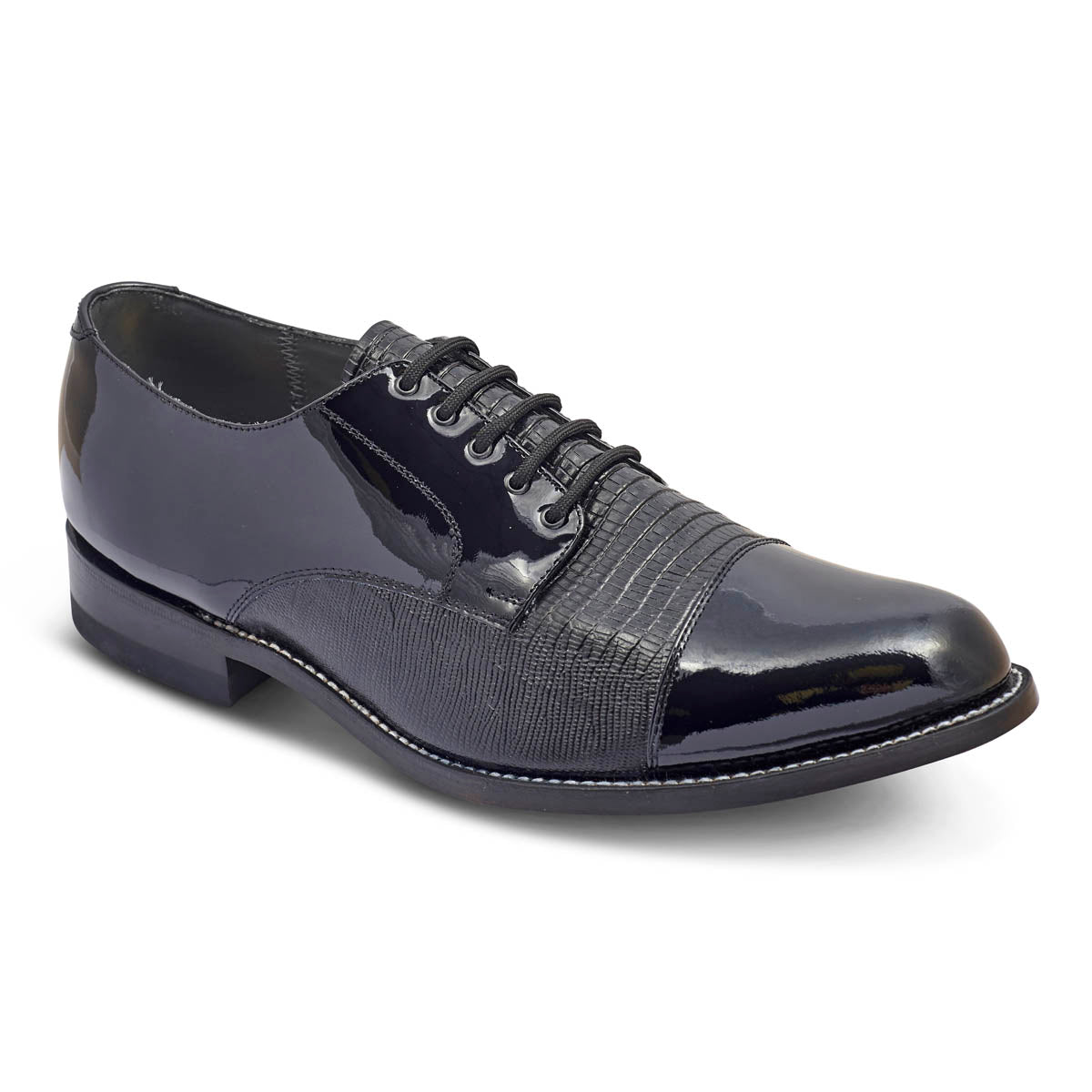 STACY PENNER - Black Cap Toe (C1609) NEW STYLE