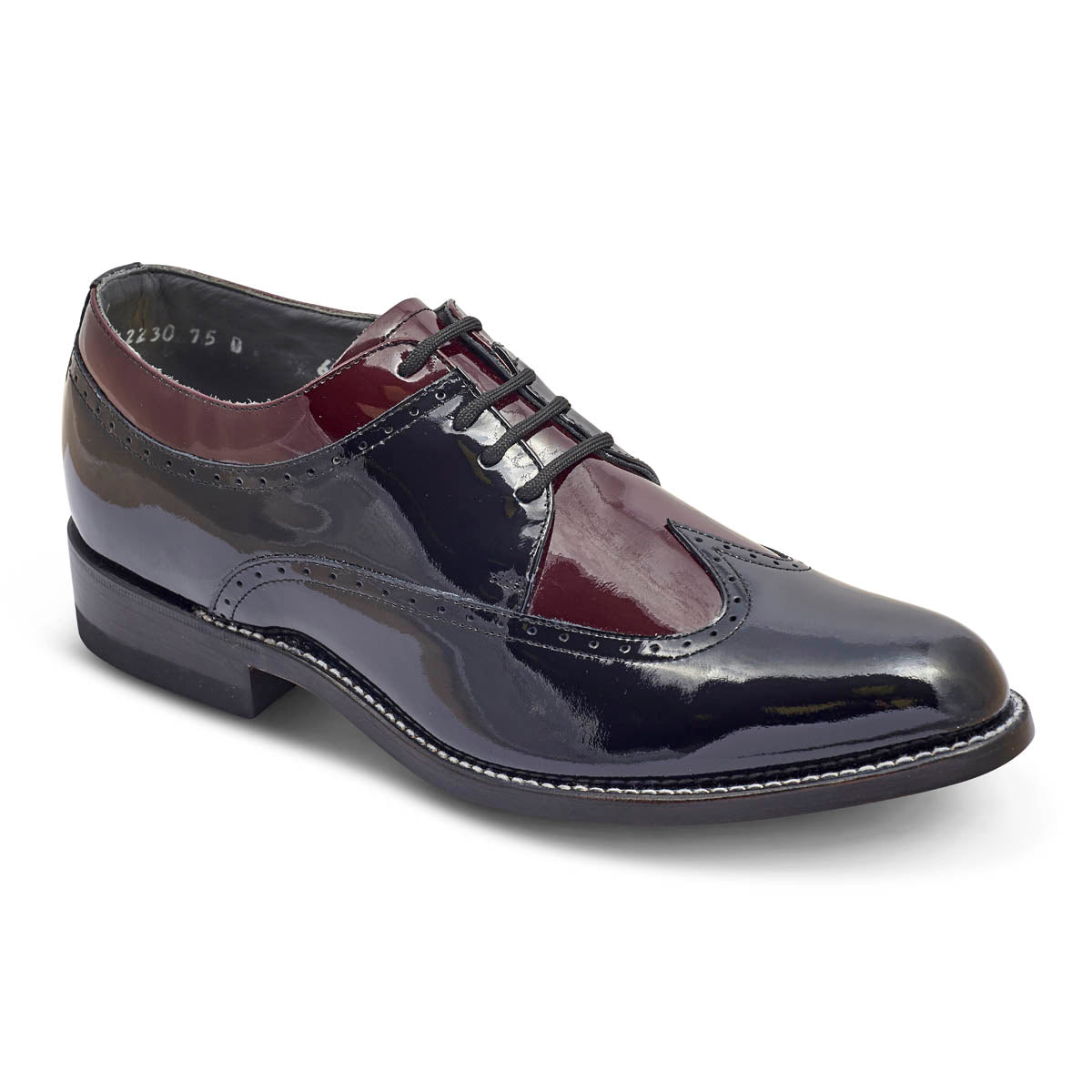 STACY PENNER - Black/Wine Wing Tip (C1622)
