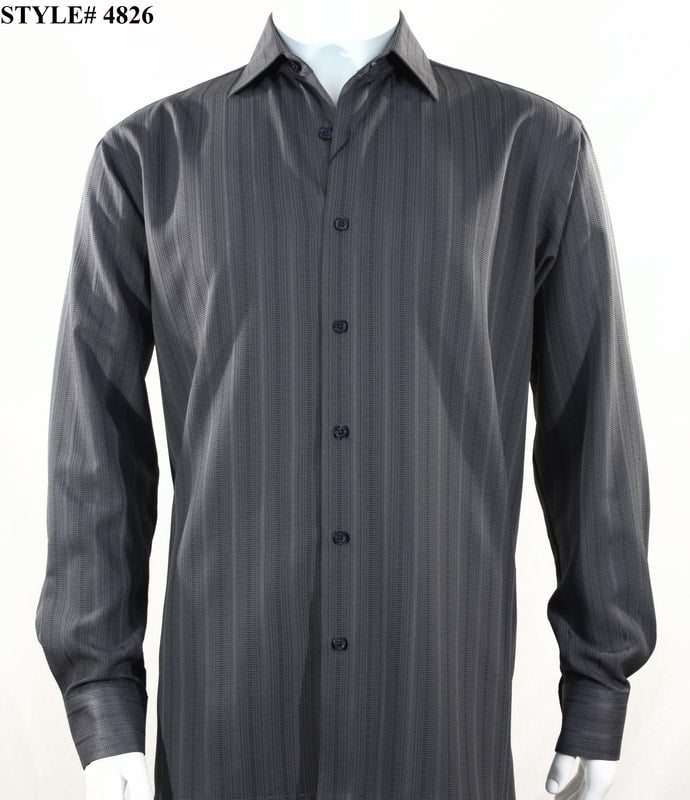Copy of Bassiri Shirt - 4828 Charcoal