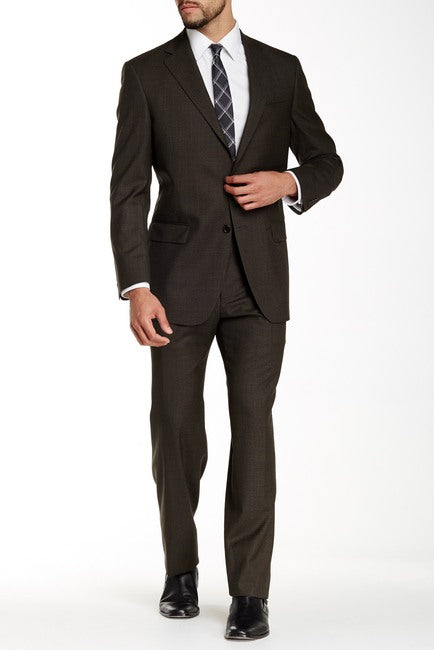 Maxman Prive Brown Sharkskin Suit