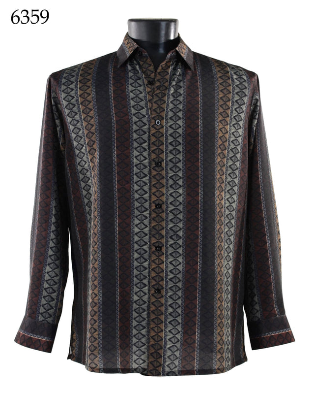 Bassiri Shirt - 6359 Brown/Gray/Rust