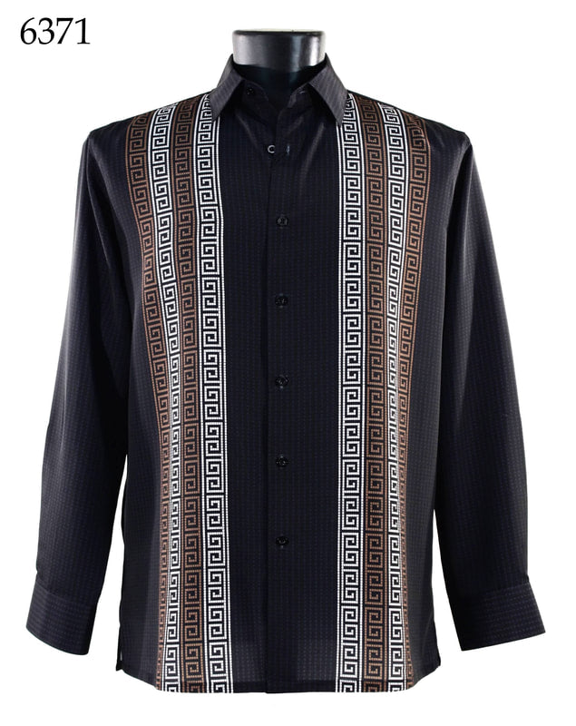 Bassiri Shirt - 6371 Black/Rust