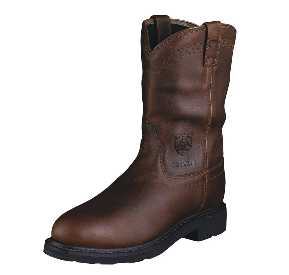 Ariat - (A1801) Sierra Waterproof Steel Toe Workboot (Brown)