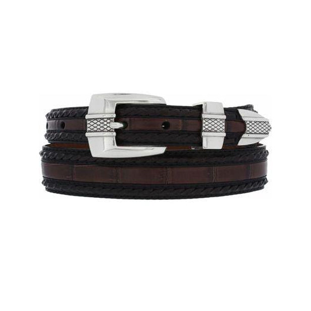 BRIGHTON - (M30343) Porto Fino Taper Belt  (Black/Brown)