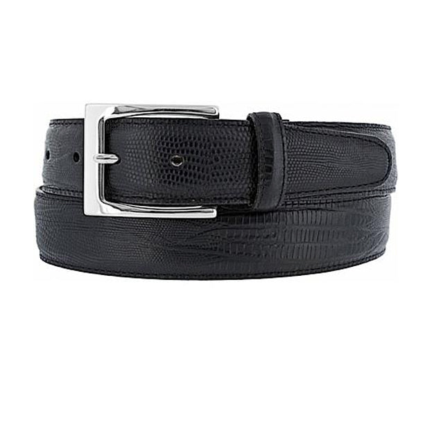 BRIGHTON - (M11143) Toledo Lizard Belt (Black)
