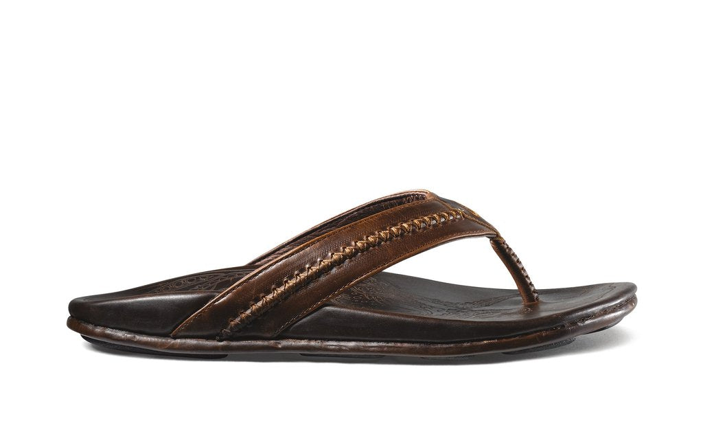 OluKai - (C1122) MEA OLA (Dark Java) Leather Beach Sandal