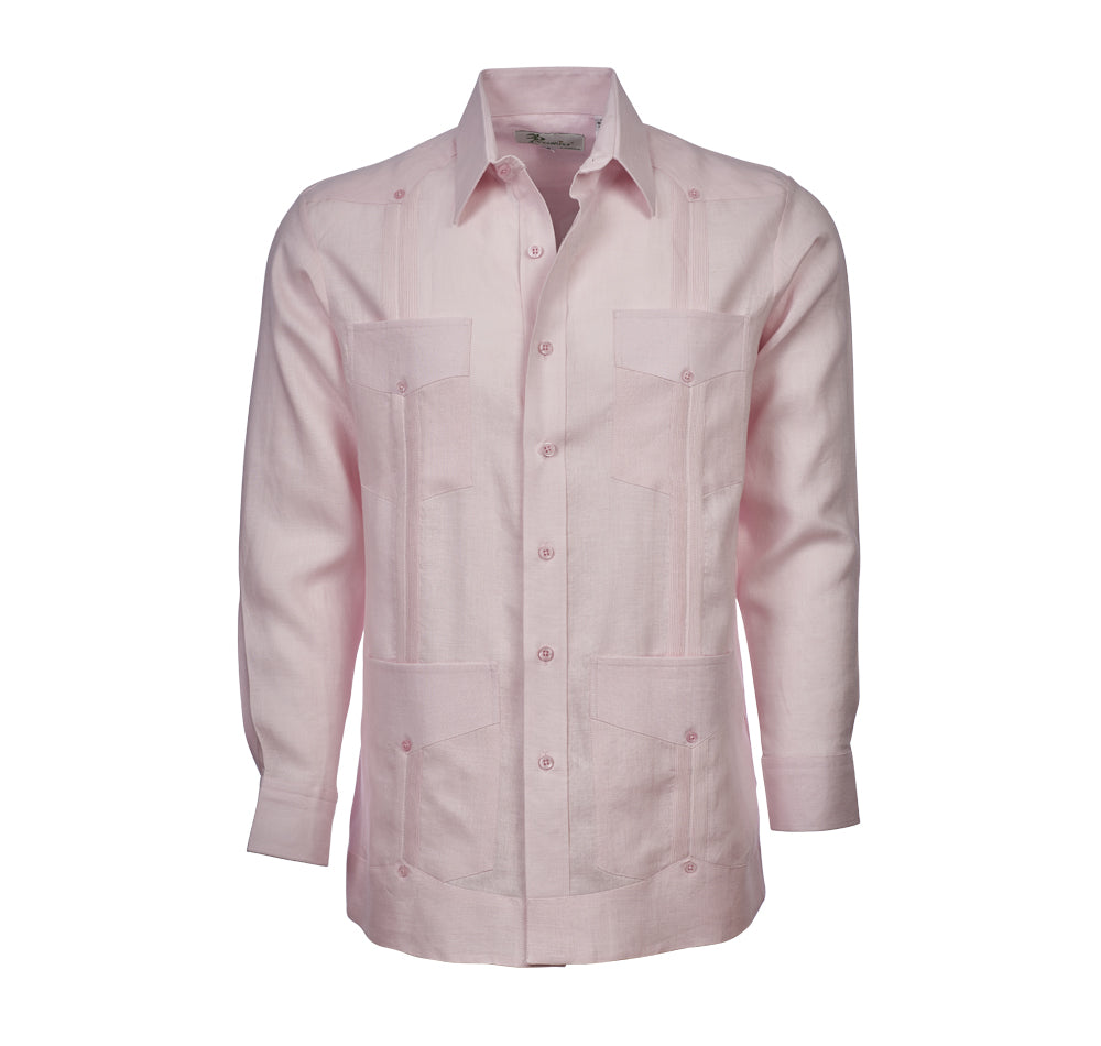 ESCALADE Guayabera - (4418LS) - 100% Irish Linen - Long Sleeve