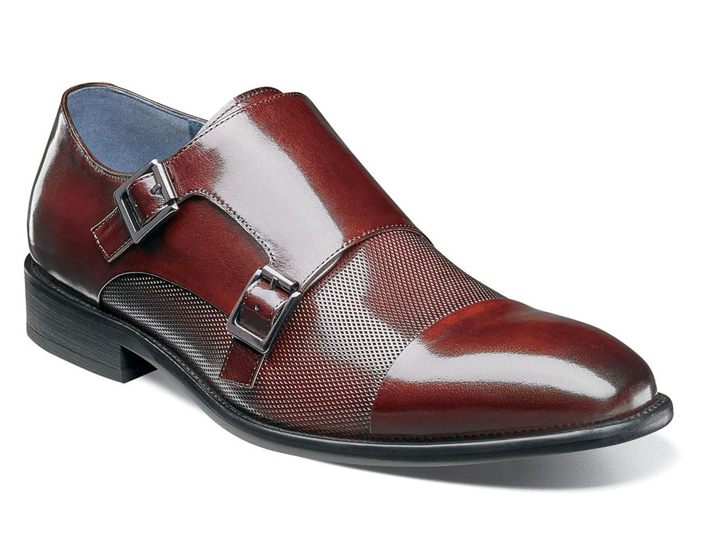 STACY ADAMS - (A3263) Jennings Cap Toe (Burgandy)