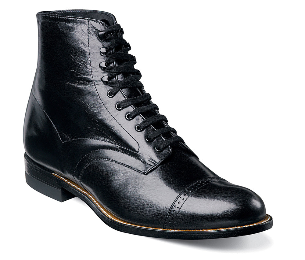 STACY ADAMS - (C3205) Madison Cap Toe Boot (Black)