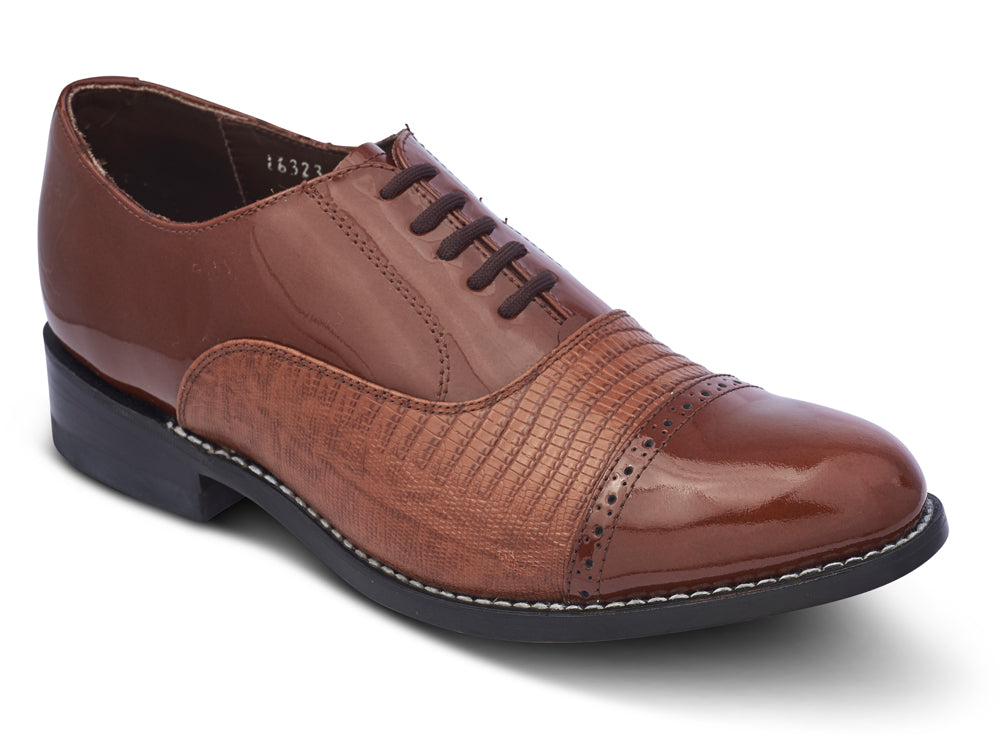 STACY PENNER - Brown Cap Toe (A1236)