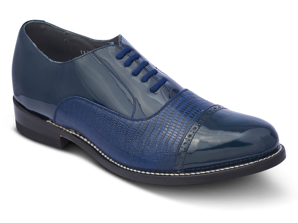 STACY PENNER - Navy Cap Toe (C1612)