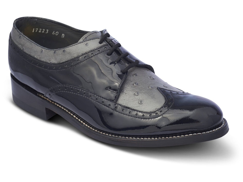 STACY PENNER - Black/Grey Wing Tip (C1637)