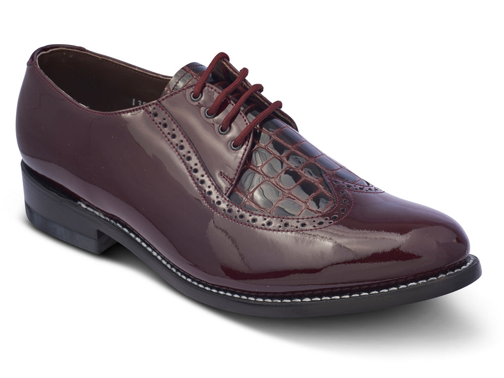 STACY PENNER - Burgundy Wing Tip (A1606)