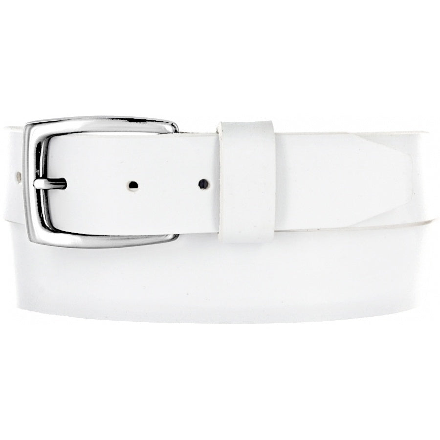 BRIGHTON - (61502) Beck Basic Belt (White)