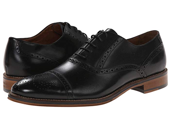 JOHNSTON & MURPHY - (C2803) Conard Cap Toe (Black)