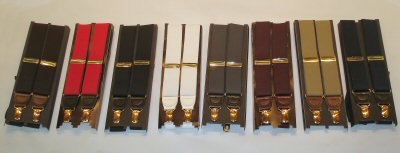 Metal Clip On Suspenders - Regular