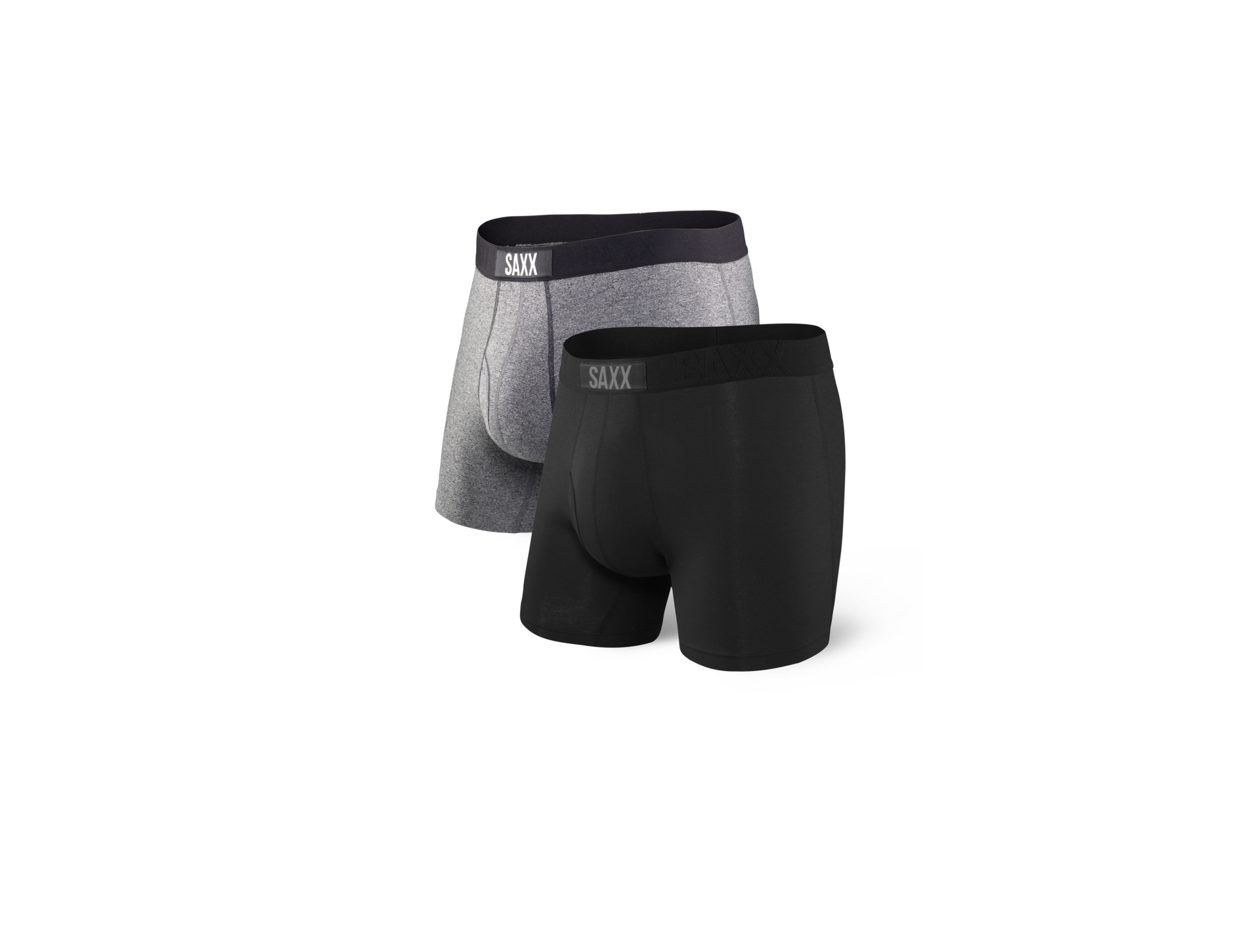 SAXX Boxer Brief 2 Pack Black/Salt Pepper