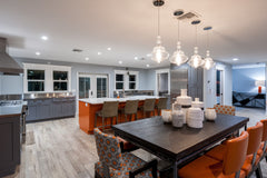 Contemporary interior design kitchen modern south florida boca raton colorful clean lines