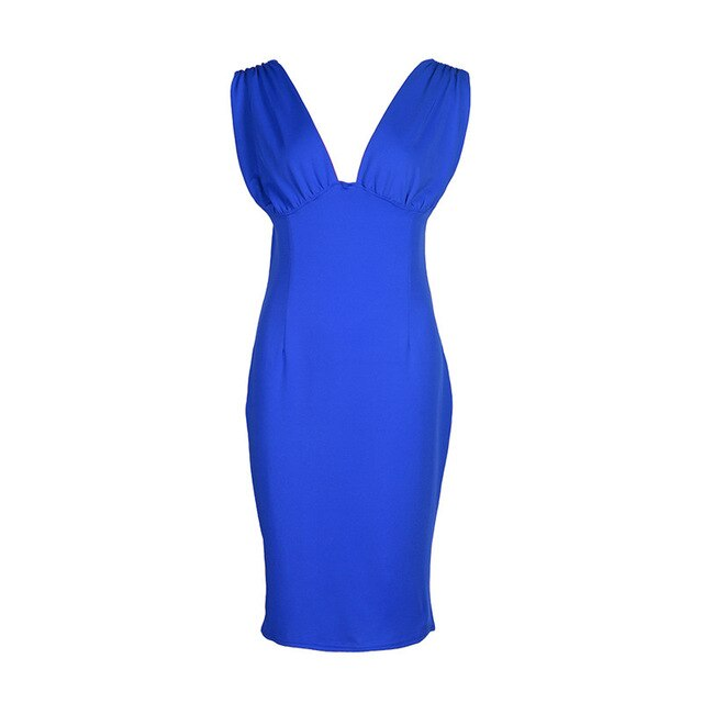 BOSS-IE 2020 Sexy Little Solid Color Summer Party Dress