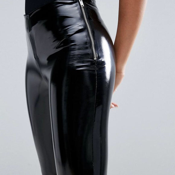 BOSS-IE 2020 Shinny Faux Leather Push Up Vinyl Leggings