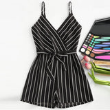 BOSS-IE NEW 2020  Pin Stripped  Elegant Summer Jumpsuit Romper