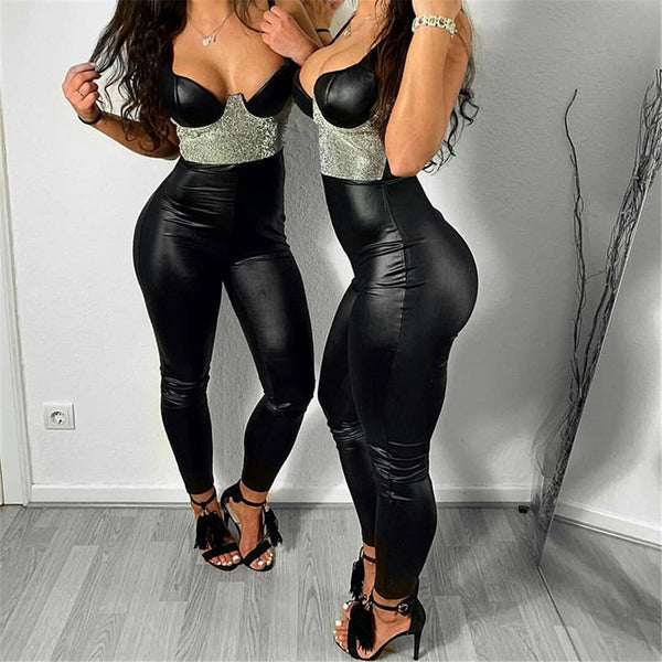 Boss-ie NEW Faux Leather Leggings Women Plus Size Jeggings