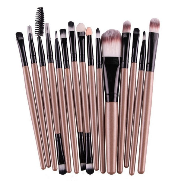 Professional 15 Pcs/Sets Cosmetic Eye Shadow, Lip Brushes
