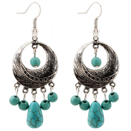 Vintage Silver/Turquoise Drop Earrings