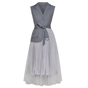 2019 Spring  Woman Gray Mesh Dress LD627