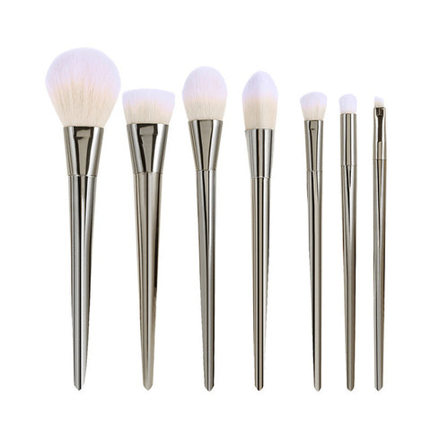 7Pcs Rose Gold/Silver Makeup Brushes Cosmetics Kits