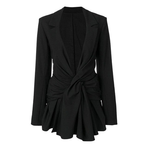 BOSS-IE NEW 2020 Spring/Summer Black V-Neck Long Sleeve Office Suit