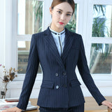 New 2 Piece Pin Stripe Office Pant Suit