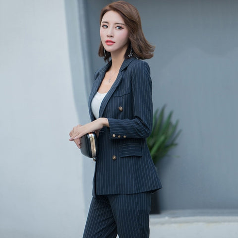 BOSS-IE Fashion Work Office 2 Piece Pant Business Suits