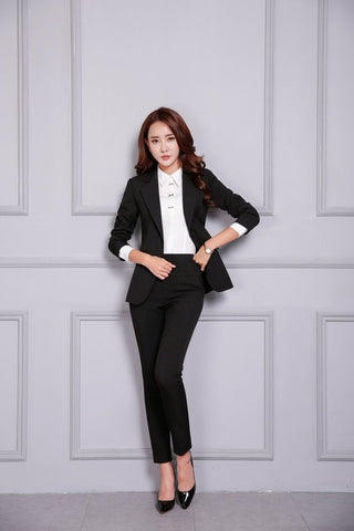 2 Piece Blazer Pants Business Suit