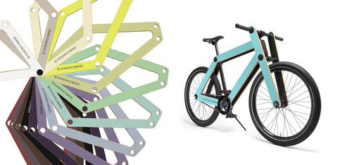 Customize your Sandwichbike! All colours can be printed on Sandwichbikes wooden frame.