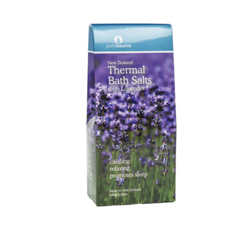 New Zealand Thermal Bath Salts with Lavender – 100g